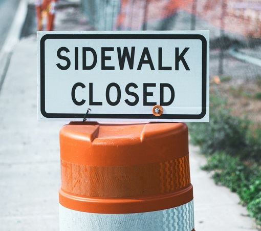 sidewalk closed
