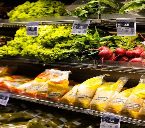Veggies at store