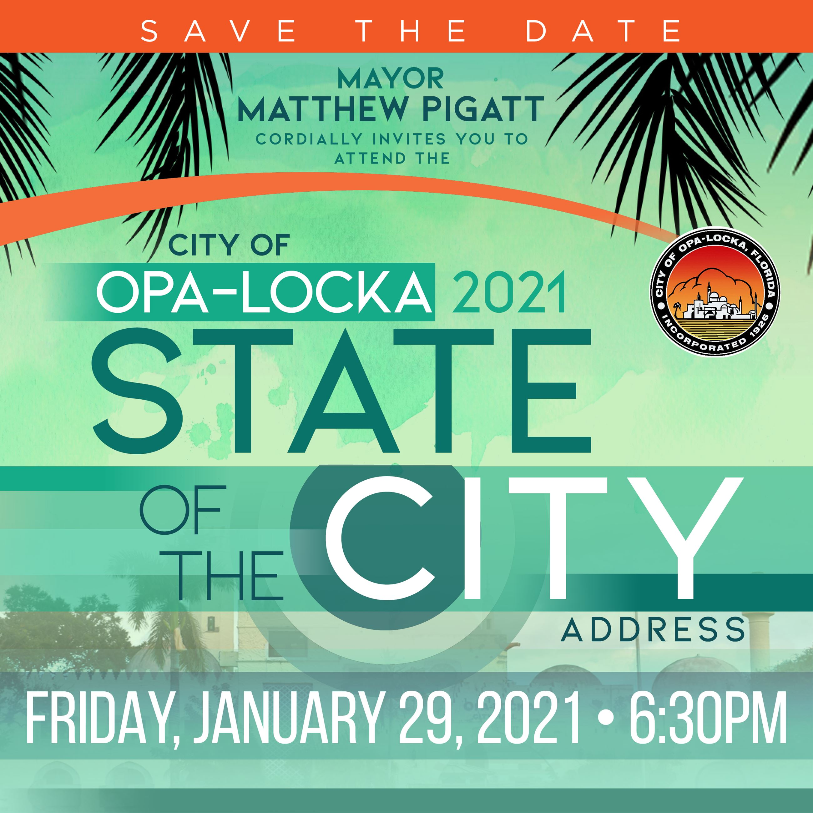 Save the Date - State of the City Address 2021