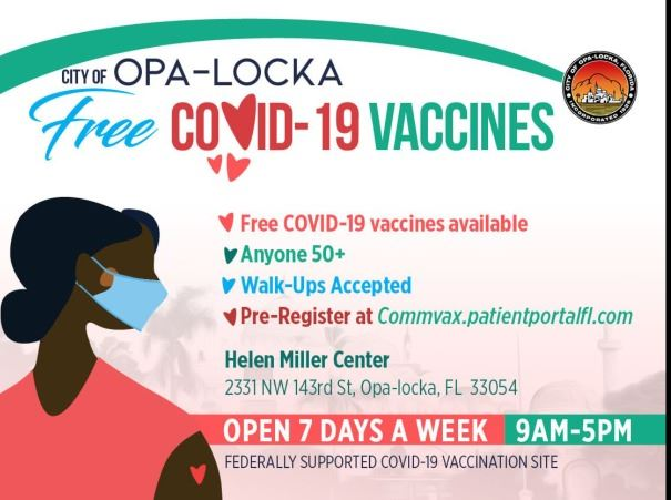 opa-locka covid19 vaccination site flyer