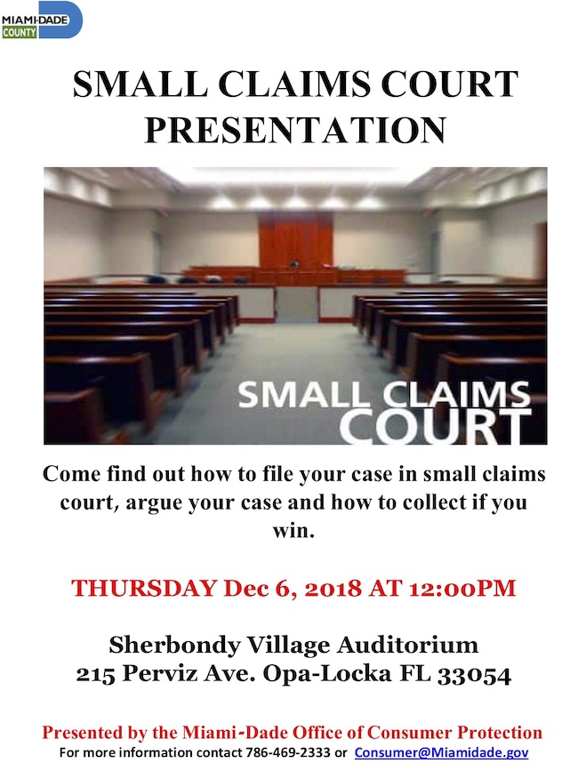 Flyer - Small Claims Court Presentation (12.06.2018).jpg