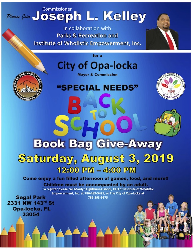 special needs book bag giveaway
