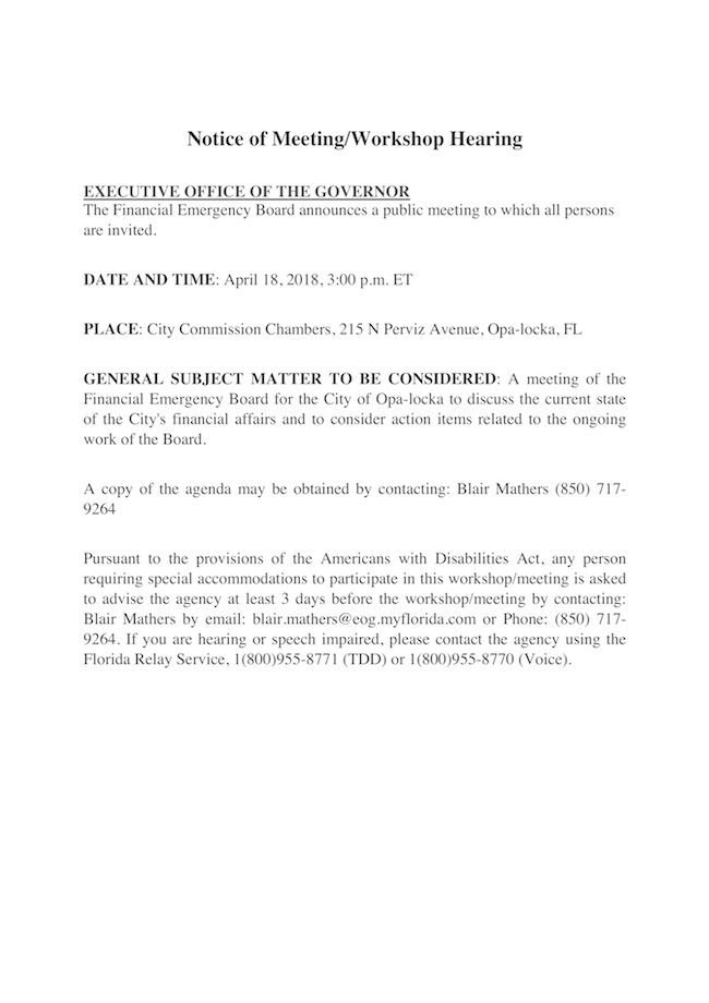 Notice of Meeting - Financial Emergency Board (04.18.2018).jpg
